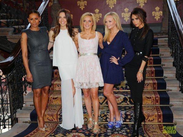 Les Spice Girls réunies pour présenter leur comédie musicale.