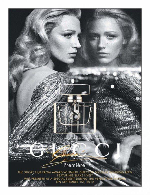 Blake Lively pose pour Gucci. parfum