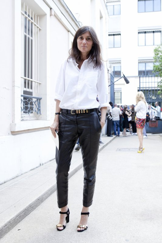 Emmanuelle Alt à la Fashion Week.