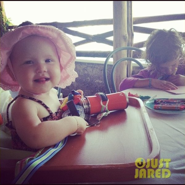 Jessica Alba en vacances en famille.