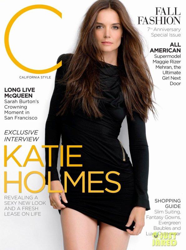 Katie Holmes pose pour C magazine.