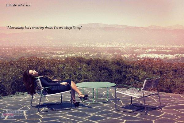 Kim Kardashian pose pour InStyle.