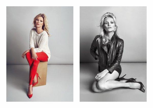 Kate Moss pose pour Mango. automne / hiver 2012-2013