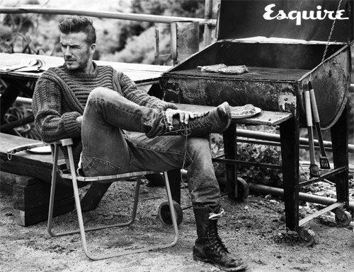 David Beckham pose pour Esquire.