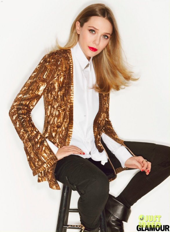 Elisabeth Olsen pose pour Glamour.