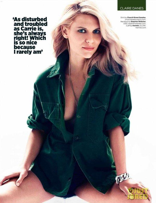 Claire Danes pose pour GQ.