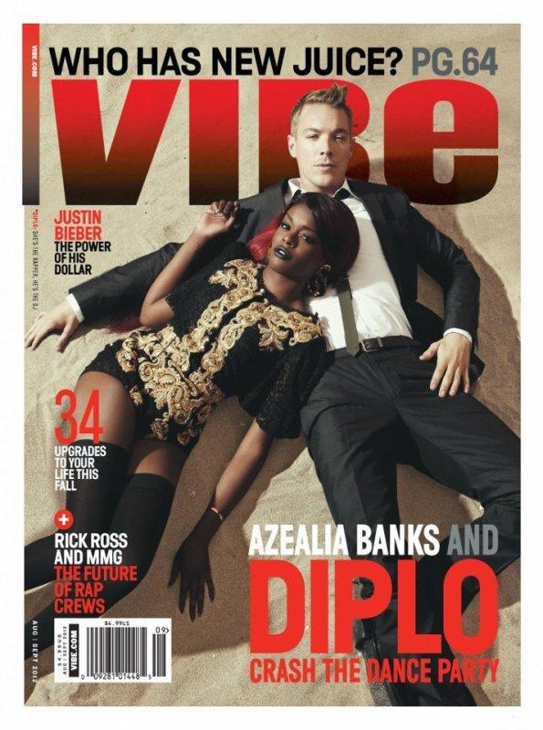 Azealia Banks et Diplo posent pour Vibe.