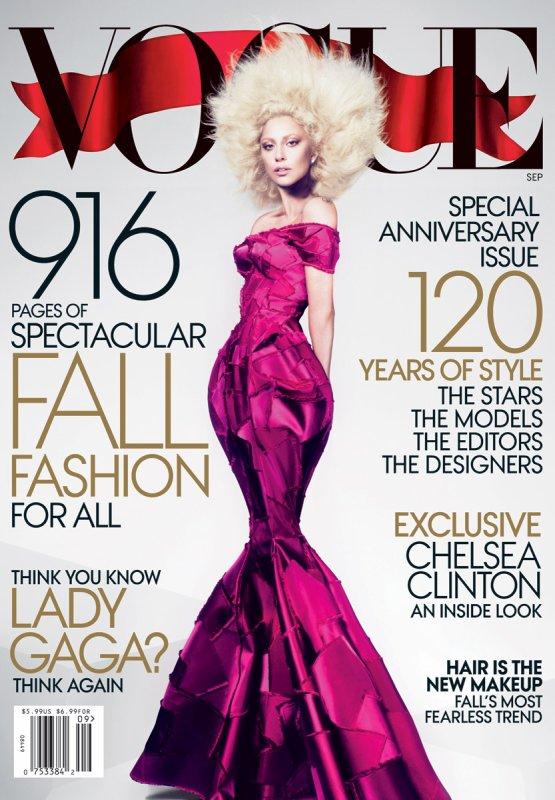 Lady Gaga pose pour Vogue.