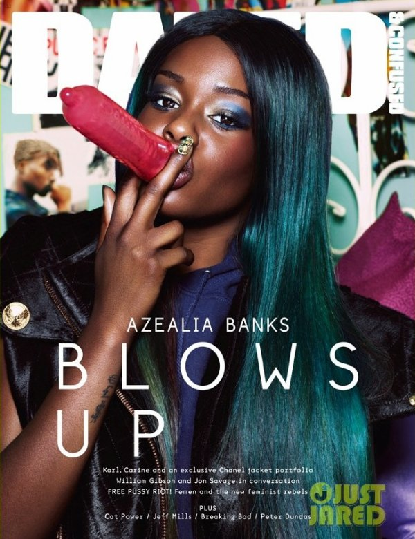 Azealia Banks pose pour Dazed & Confused.
