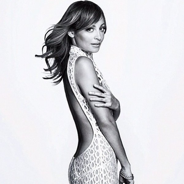 Nicole Richie pose pour InStyle.