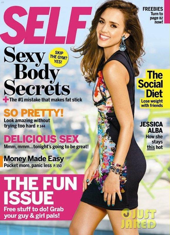 Jessica Alba pose pour Self.
