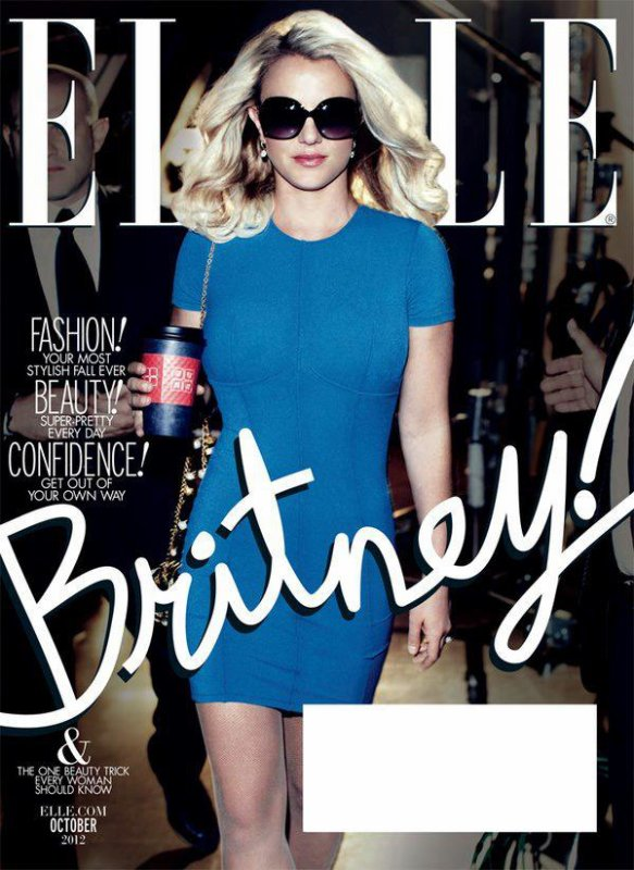 Britney Spears pose pour ELLE.