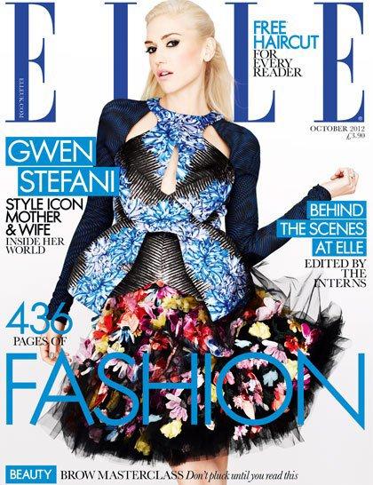 Gwen Stefani pose pour ELLE.