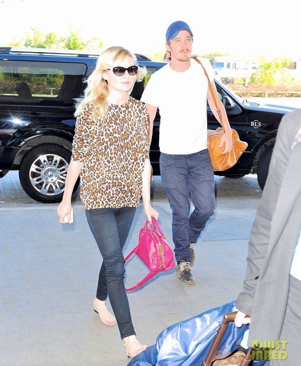 Kirsten Dunst à l'aéroport LAX. Los Angeles