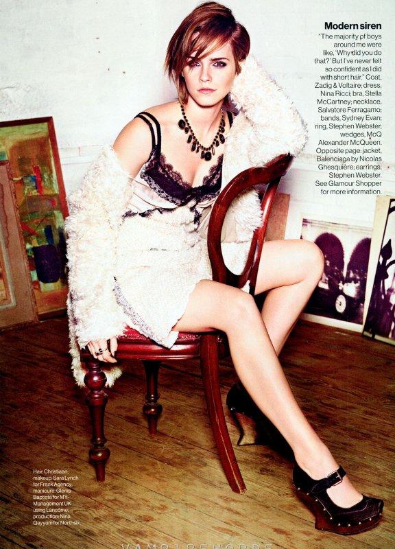 Emma Watson pose pour Glamour.
