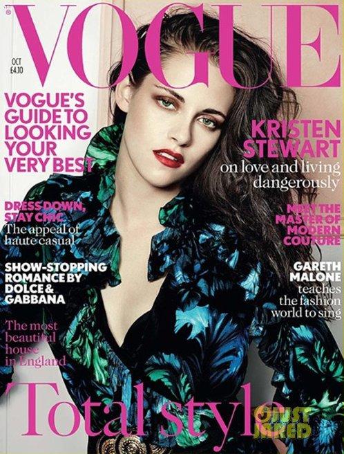 Kristen Stewart pose pour Vogue.