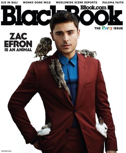 Zac Efron pose pour Blackbook Magazine.