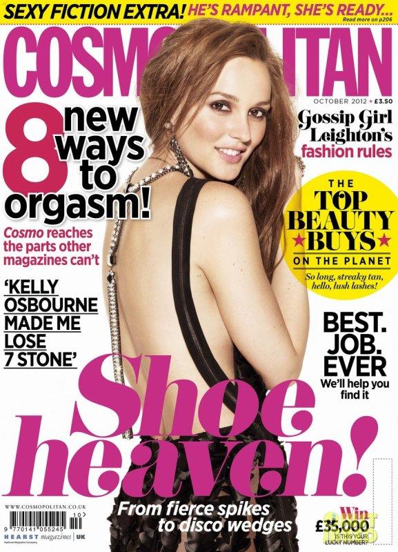 Leighton Meester pose pour Cosmopolitan.