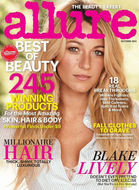 Blake Lively pose pour Allure.
