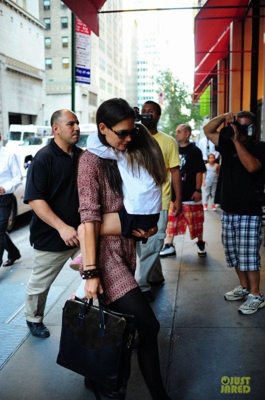 Katie Holmes de sortie. New York