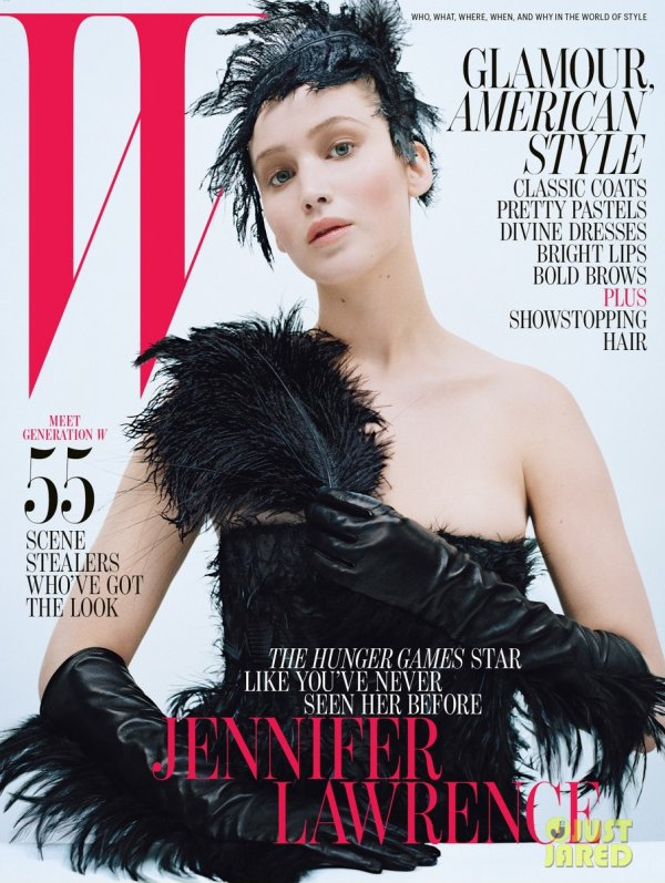 Jennifer Lawrence pose pour W magazine.
