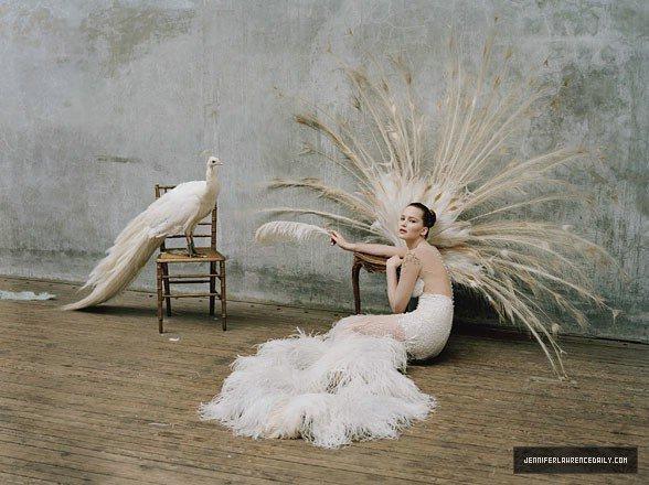 Jennifer Lawrence pose pour W magazine.