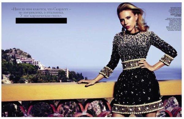 Scarlett Johansson pose pour Vogue.