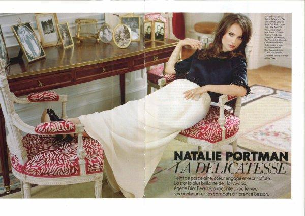 Natalie Portman pose pour ELLE.