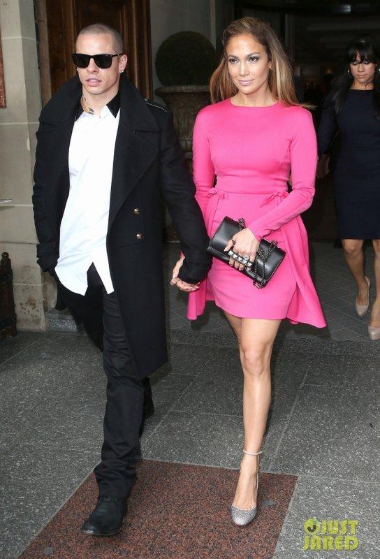 Jennifer Lopez au défilé Valentino. Paris