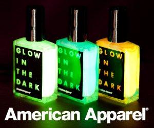 American Apparel  vernis brillant dans le noir