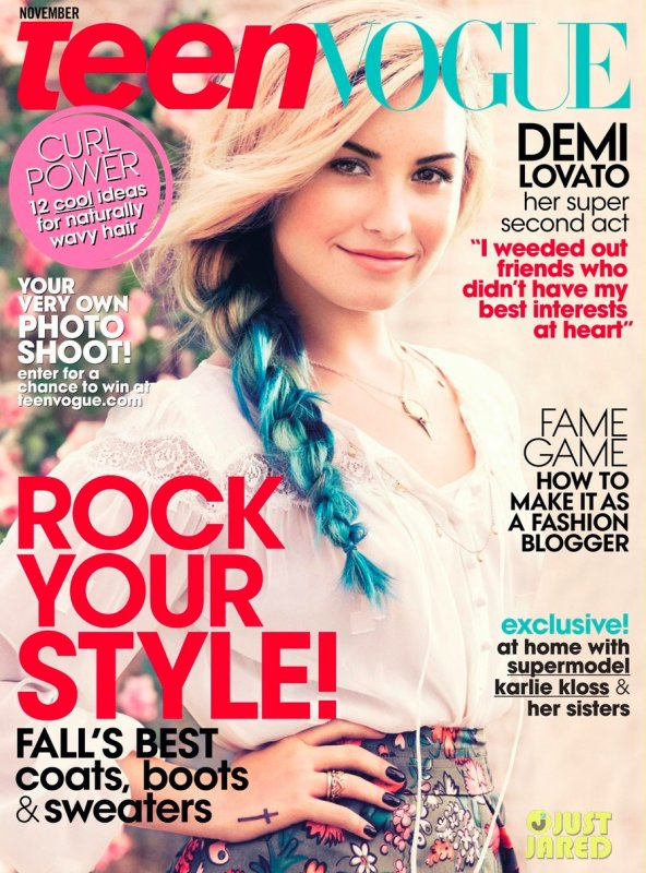 Demi Lovato pose pour Teen Vogue.
