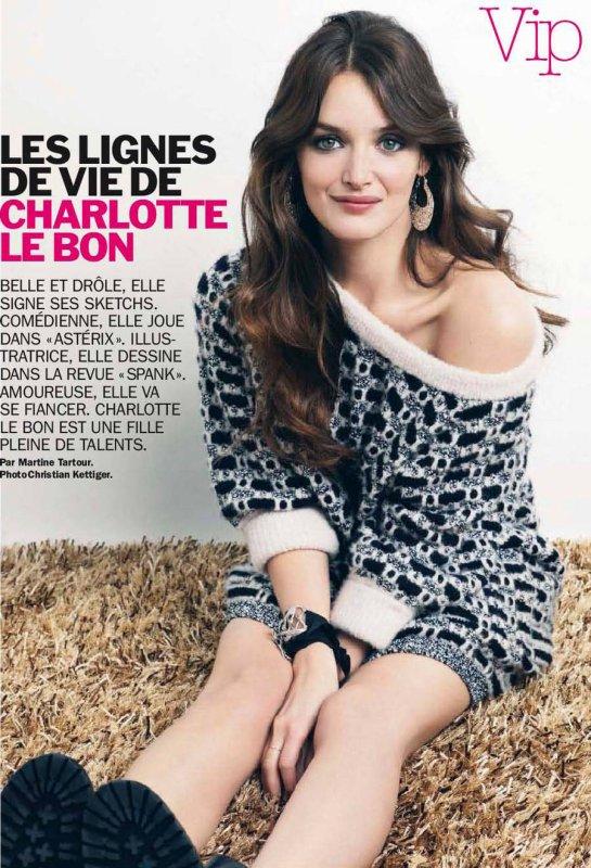 Charlotte LeBon pose pour Cosmopolitan.