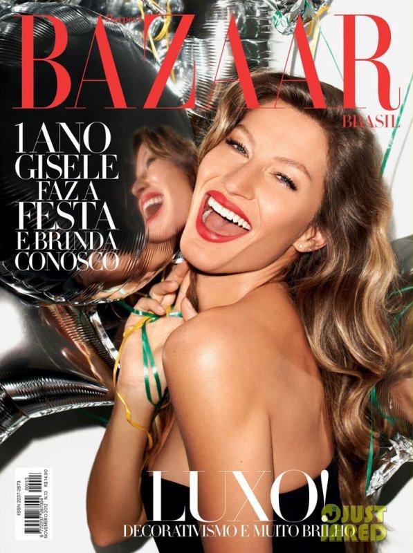 Gisele Bundchen pose pour Harper's Bazaar.
