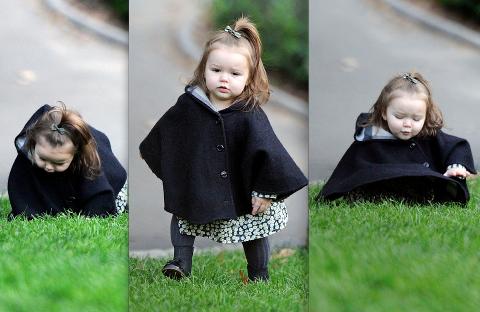 Victoria Beckham de sortie avec sa fille.