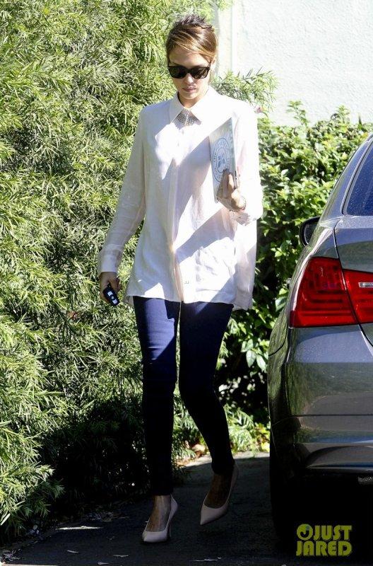 Jessica Alba de sortie. Santa Monica, Californie