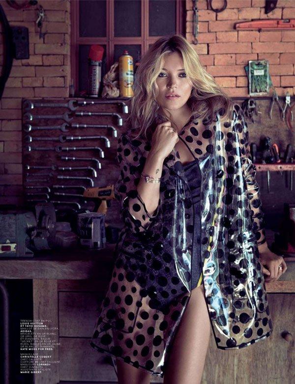Kate Moss pose pour Jalouse.