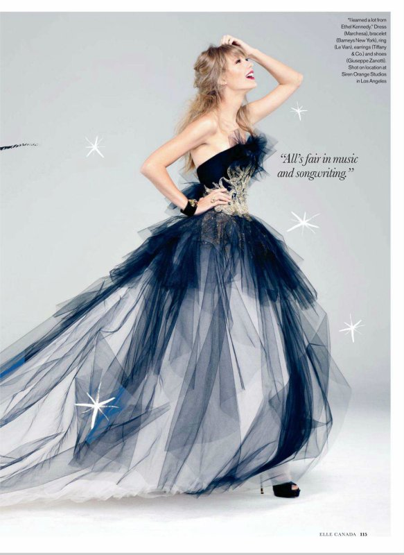 Taylor Swift pose pour ELLE.