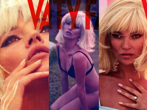 Kate Moss pose pour Vanity Fair.