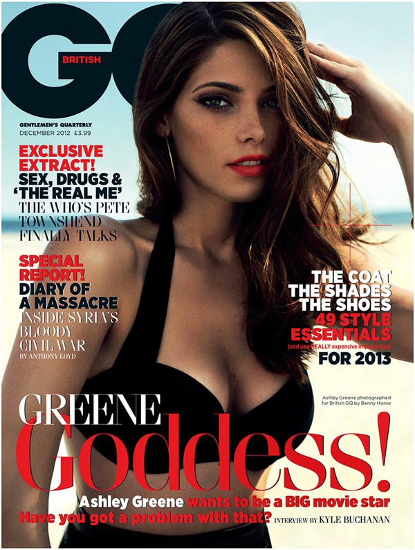 Ashley Greene pose pour GQ.