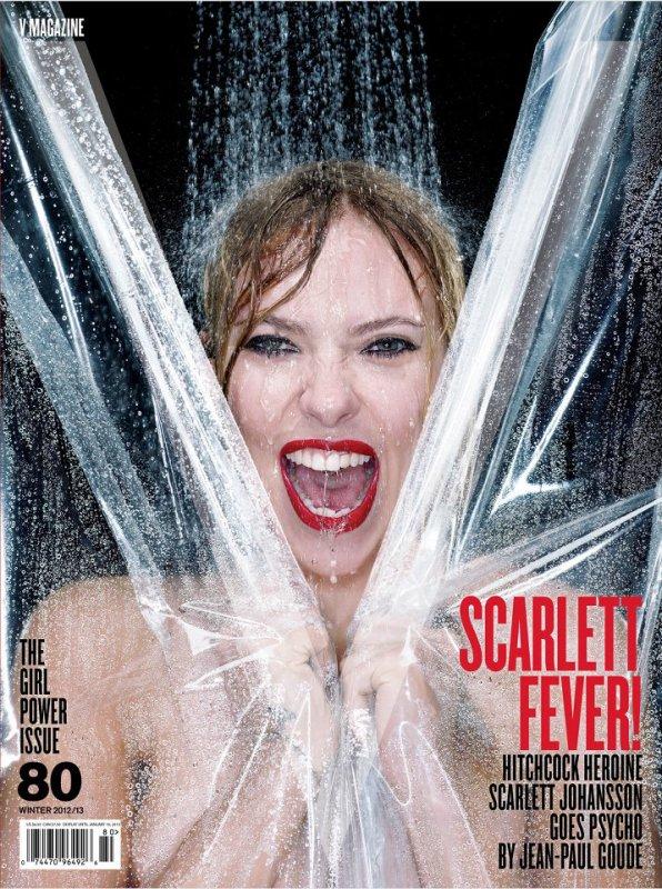 Scarlett Johansson pose pour V magazine.