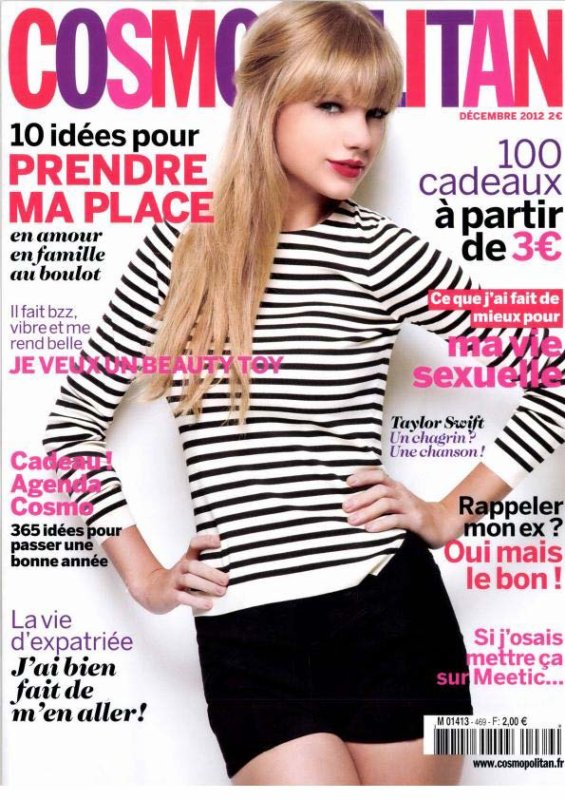 Taylor Swift pose pour Cosmopolitan.