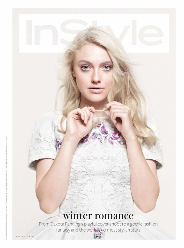 Dakota Fanning pose pour InStyle.