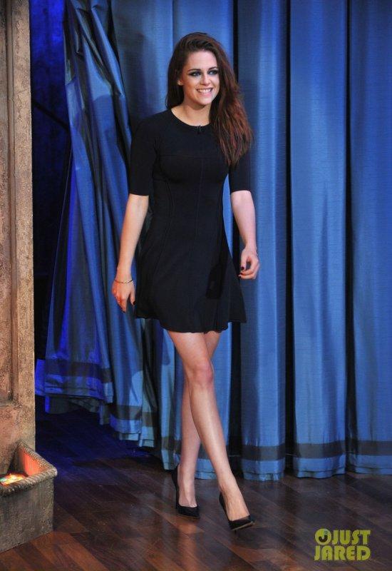 Kristen Stewart sur le plateau de Jimmy Fallon. New York