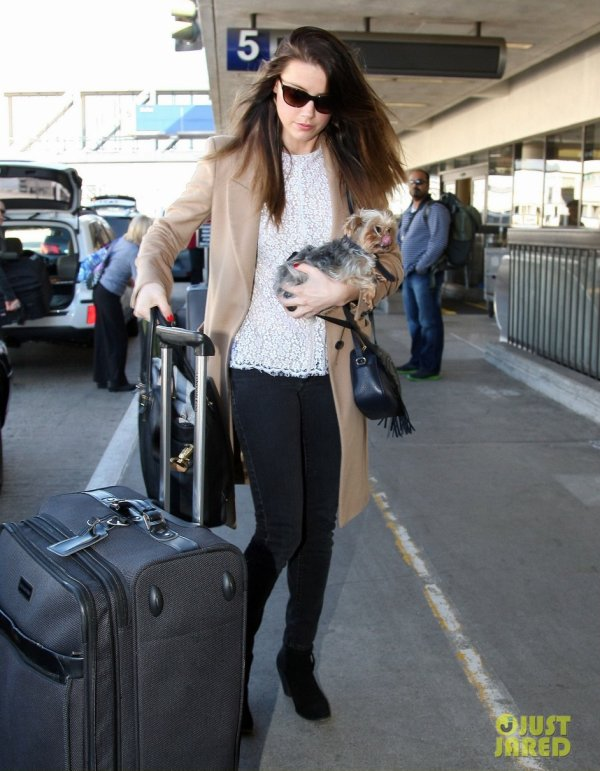 Amber Heard à l'aéroport LAX. Los Angeles