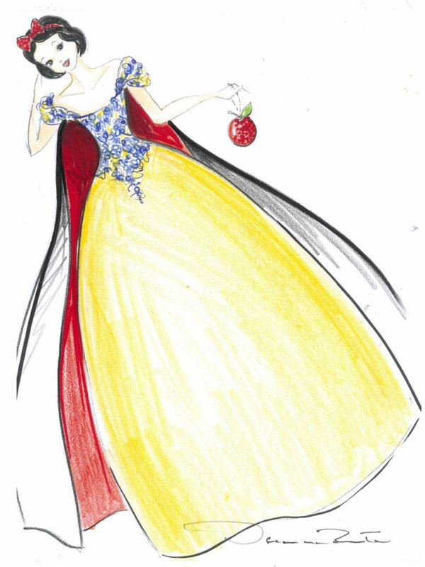 Les princesses de Disney relookées par les créateurs. source : Grazia.fr
