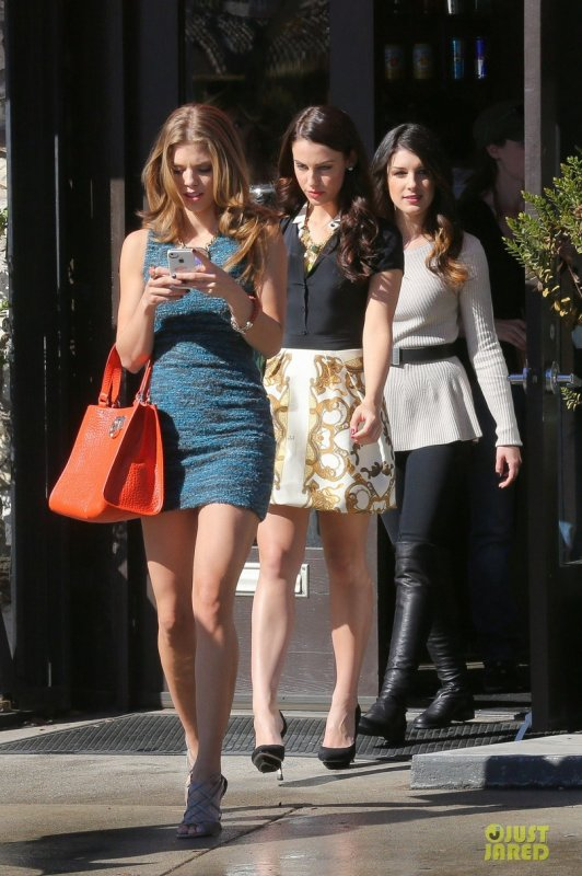 Sur le tournage de 90210.