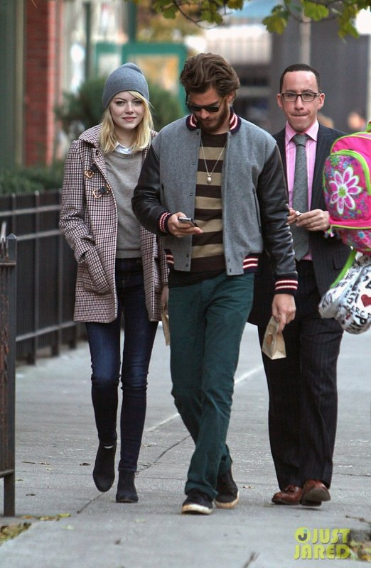 Emma Stone et Andrew Garfield de sortie. New York