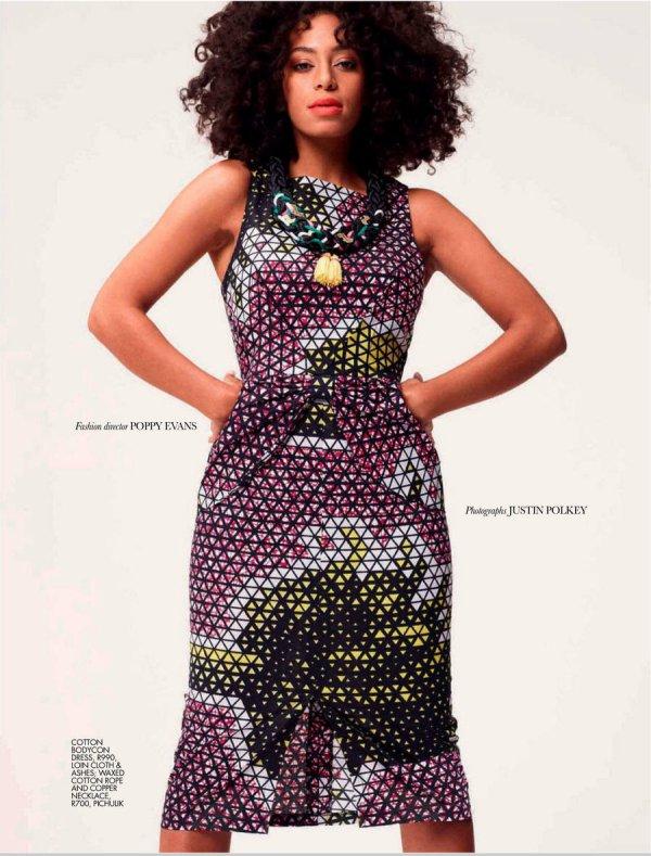 Solange Knowles pose pour ELLE.