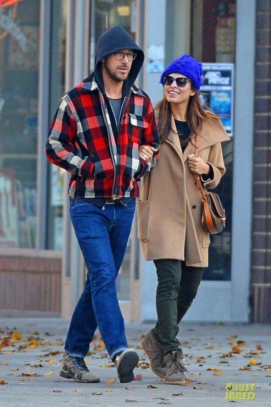 Ryan Gosling et Eva Mendes de sortie. New York