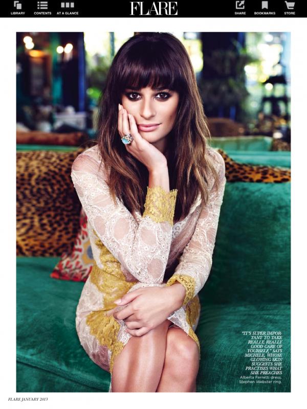 Lea Michele pose pour Flare.